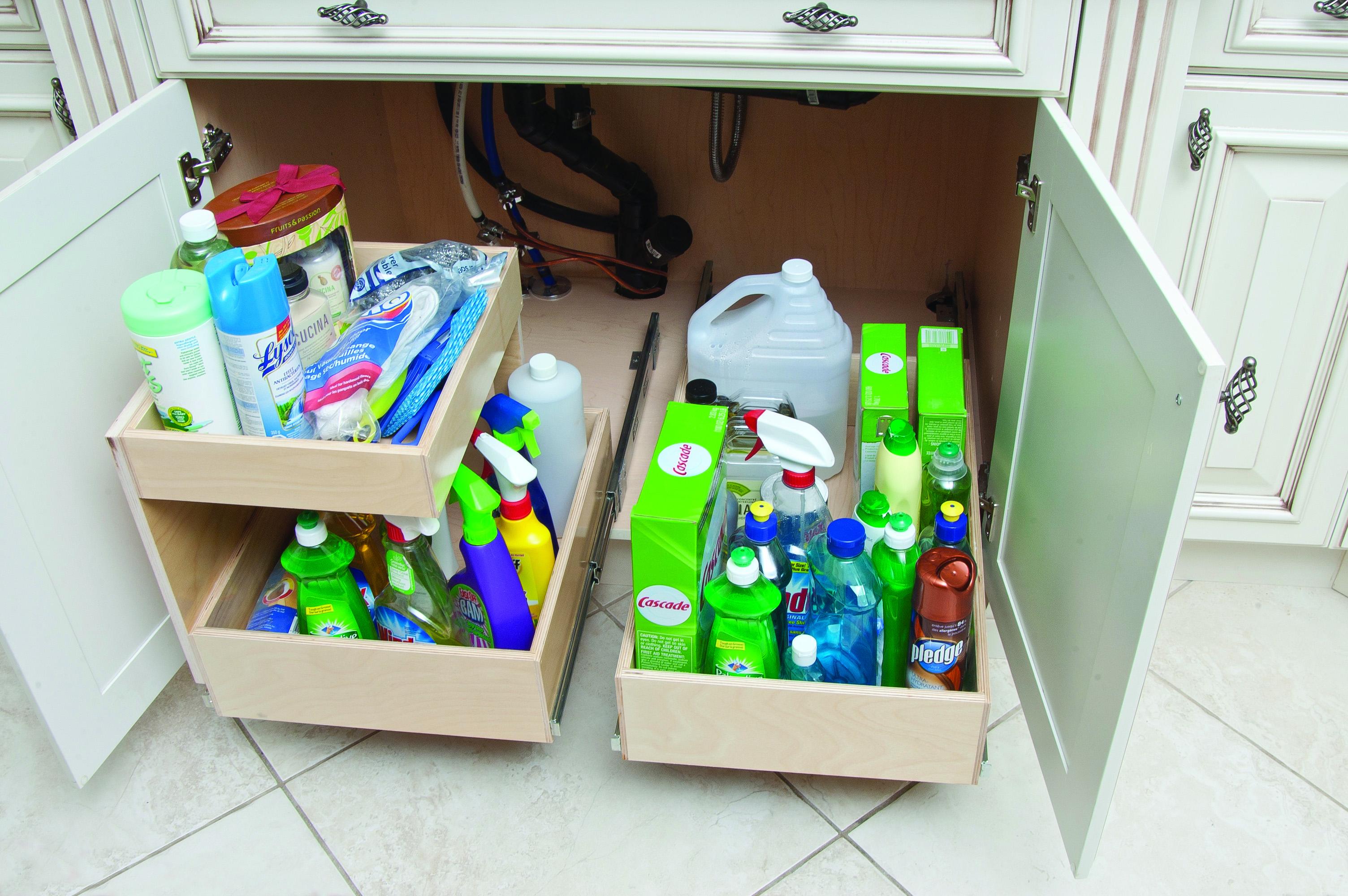 luxury kitchen sink tidy storage - taste